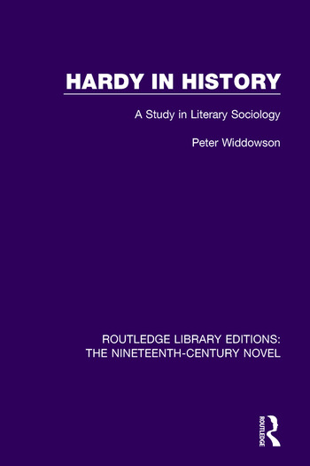 Hardy in History A Study in Literary Sociology book cover