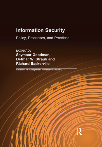 Information Security Policy, Processes, and Practices book cover