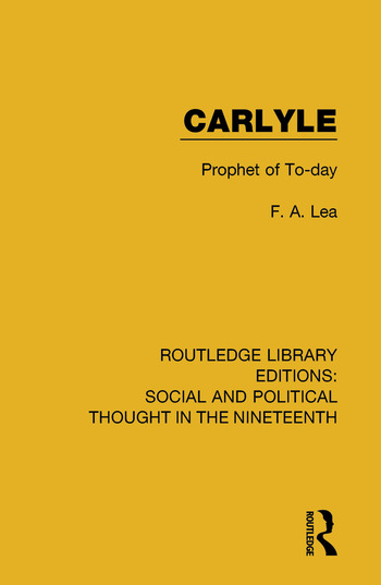 Carlyle Prophet of To-day book cover