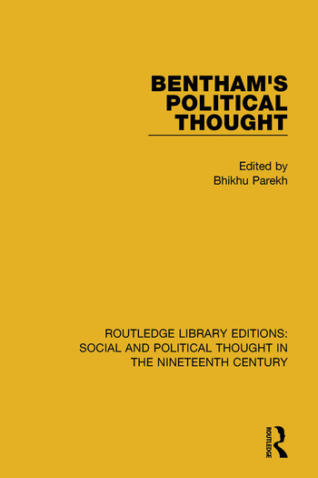 Bentham's Political Thought book cover