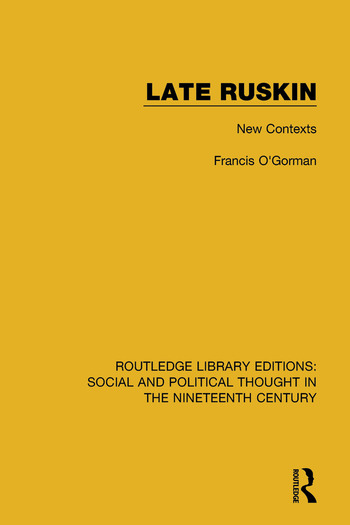 Late Ruskin New Contexts book cover