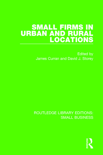 Small Firms in Urban and Rural Locations book cover