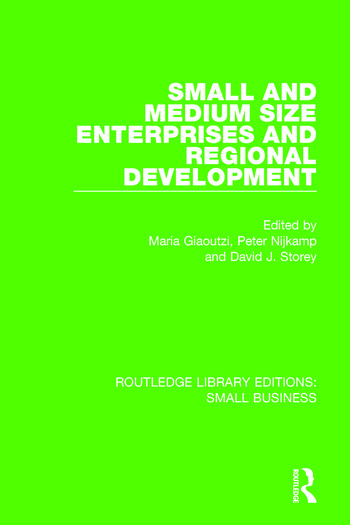 Small and Medium Size Enterprises and Regional Development book cover