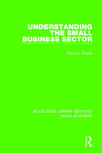Understanding The Small Business Sector book cover