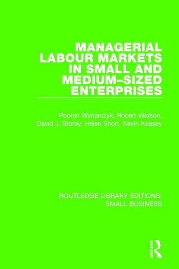 Managerial Labour Markets in Small and Medium-Sized Enterprises book cover