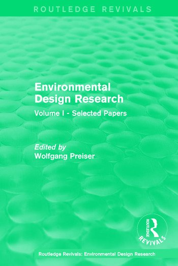 Environmental Design Research Volume one selected papers book cover