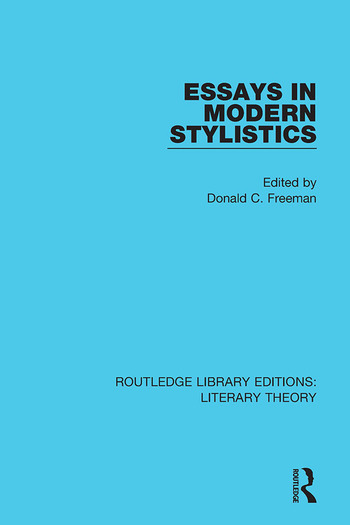 Essays in Modern Stylistics book cover