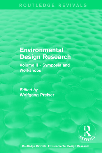 Environmental Design Research Volume two symposia and workshops book cover