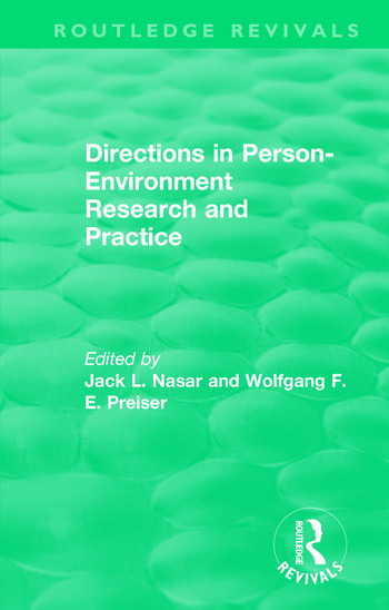 Directions in Person-Environment Research and Practice (Routledge Revivals) book cover
