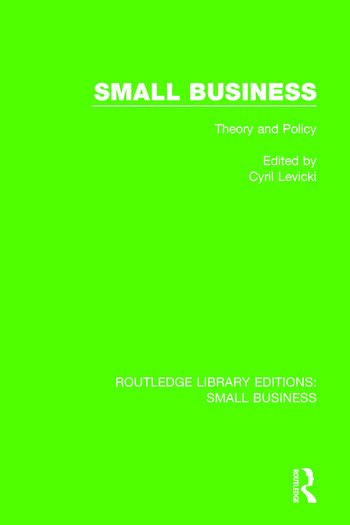 Small Business Theory and Policy book cover