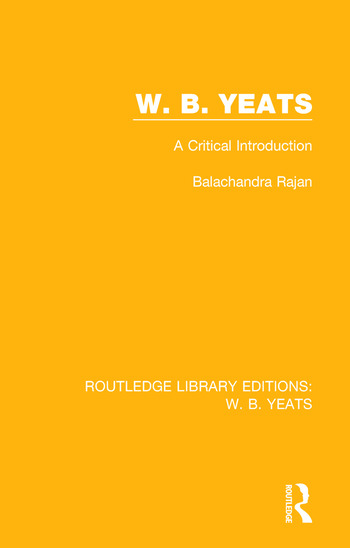 W. B. Yeats A Critical Introduction book cover