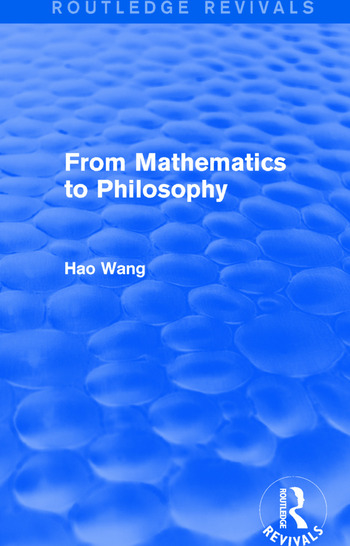 From Mathematics to Philosophy (Routledge Revivals) book cover