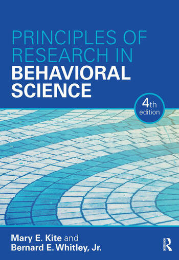 Principles of Research in Behavioral Science Fourth Edition book cover