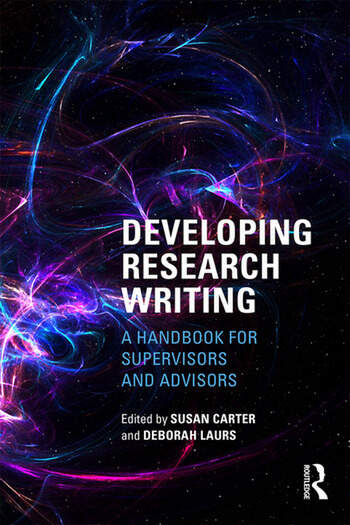 Developing Research Writing A Handbook for Supervisors and Advisors book cover