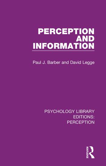 Psychology Library Editions: Perception 35 Volume Set book cover