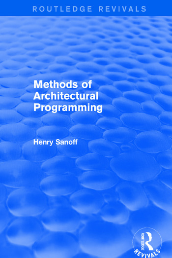 Methods of Architectural Programming (Routledge Revivals) book cover