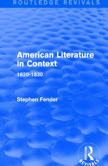 American Literature in Context 1620-1830 book cover