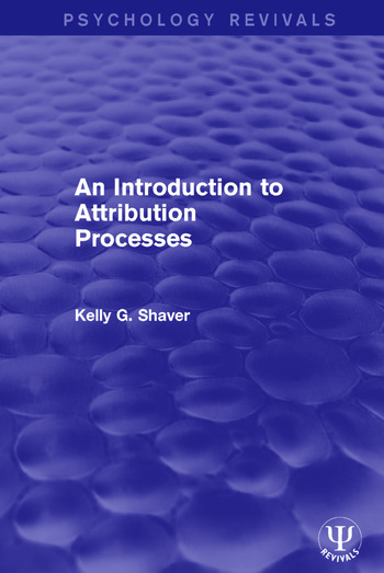An Introduction to Attribution Processes book cover