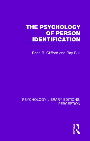 The Psychology of Person Identification book cover