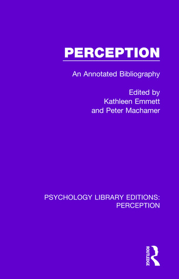 Perception An Annotated Bibliography book cover