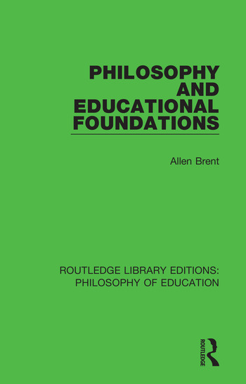 Philosophy and Educational Foundations book cover