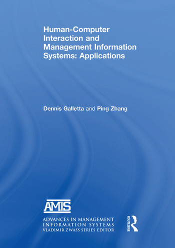 Human-Computer Interaction and Management Information Systems: Applications. Advances in Management Information Systems book cover