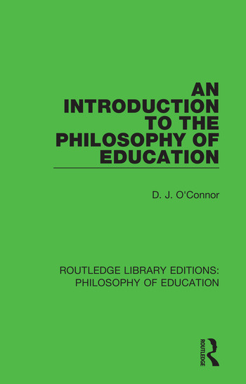 An Introduction to the Philosophy of Education book cover