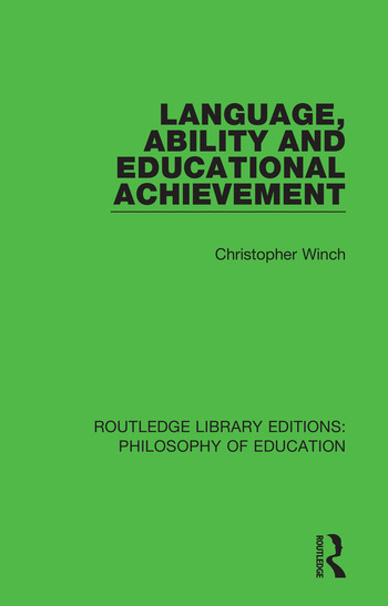 Language, Ability and Educational Achievement book cover