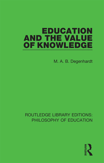 Education and the Value of Knowledge book cover