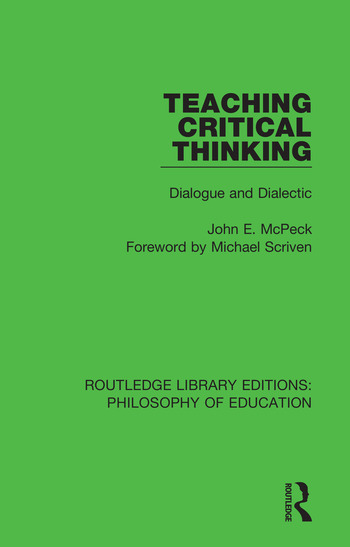 Teaching Critical Thinking Dialogue and Dialectic book cover