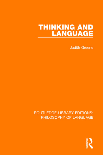 Thinking and Language book cover