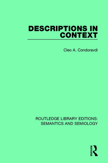 Descriptions in Context book cover