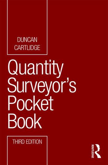 Quantity Surveyor's Pocket Book book cover