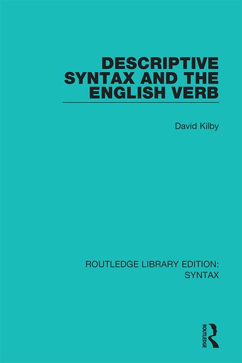 Descriptive Syntax and the English Verb book cover
