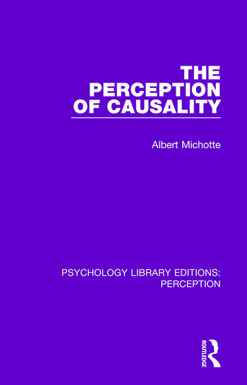 The Perception of Causality book cover