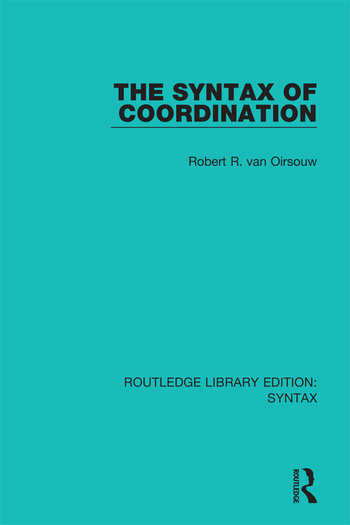 The Syntax of Coordination book cover