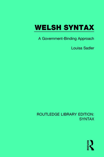 Welsh Syntax A Government-Binding Approach book cover