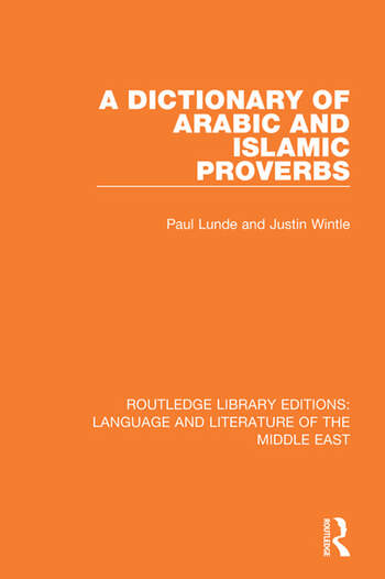 A Dictionary of Arabic and Islamic Proverbs book cover