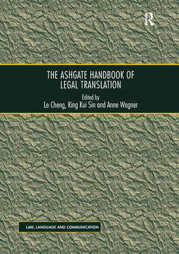 The Ashgate Handbook of Legal Translation book cover