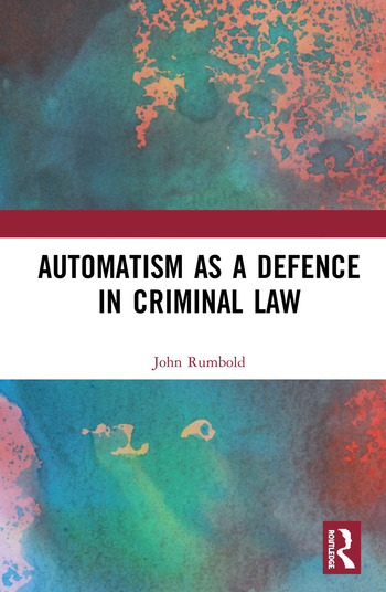 Automatism as a Defence book cover