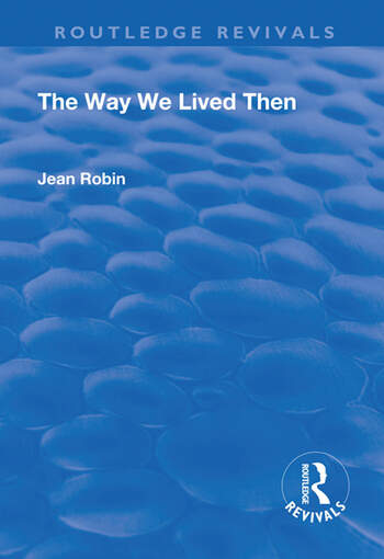 The Way We Lived Then book cover