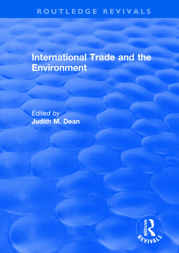 International Trade and the Environment book cover