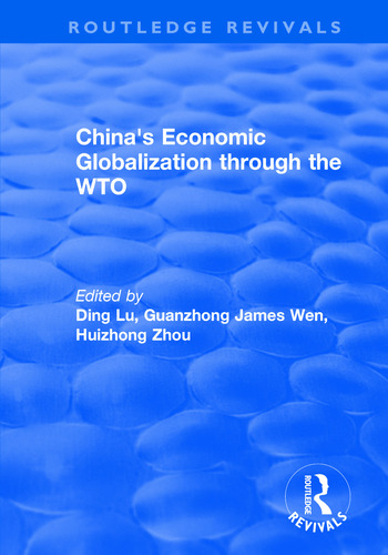 China's Economic Globalization through the WTO book cover