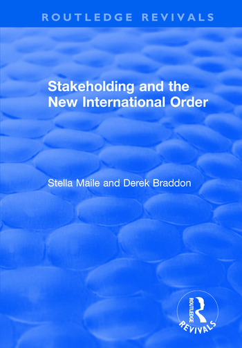 Stakeholding and the New International Order book cover