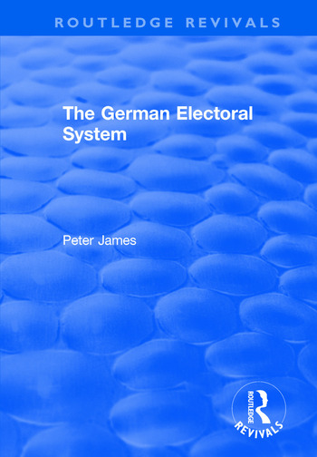 The German Electoral System book cover