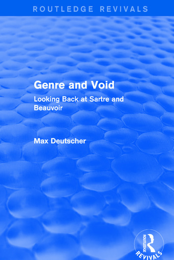 Genre and Void Looking Back at Sartre and Beauvoir book cover