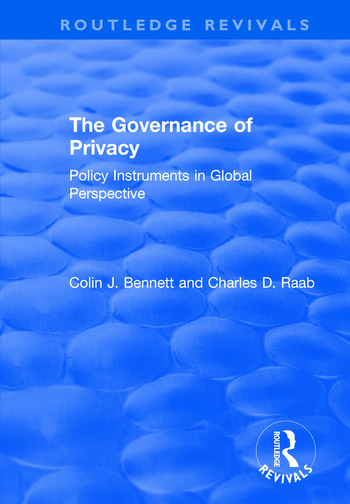 The Governance of Privacy Policy Instruments in Global Perspective book cover