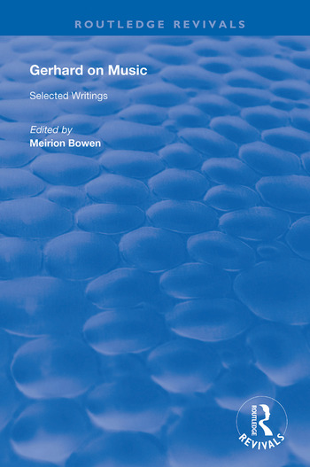 Gerhard on Music Selected Writings book cover