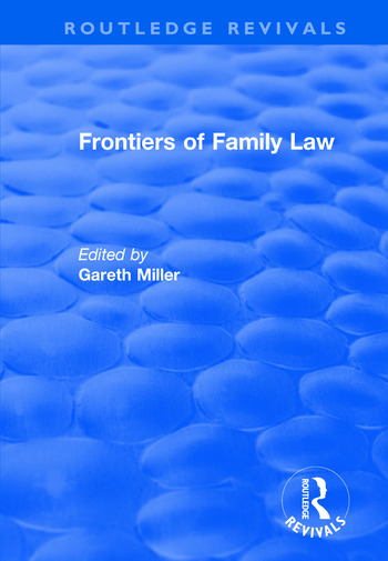Frontiers of Family Law book cover