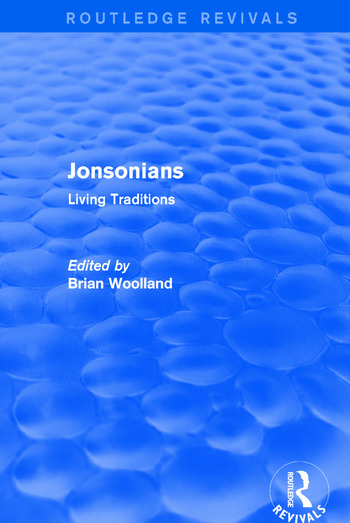 Jonsonians: Living Traditions book cover